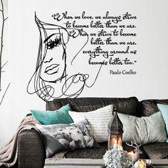 Interior Wall Decal Vinyl Sticker Art Decor Writer Paulo Coelho Quote Phrase Word Inscription Girl Love Better Strive Modern Bedroom (M1385) DecorWallDecals http://www.amazon.com/dp/B00PPBGALM/ref=cm_sw_r_pi_dp_Mw52ub173HERN