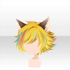 Peinado//pelo corto con orejas