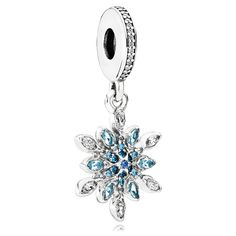 New Pandora 2017 Autumn/Winter Collection. PANDORA Crystalized Snowflake with Blue Crystals and Clear CZ Dangle Cheap Sale UK Store. 925 Sterling Silver And Gold Material. New Pandora Charms, Pandora Bracelets, Pandora Jewelry, Gold Bracelets, Argent Antique, Turquoise, Blue Crystals, Silver Charms, Dangles