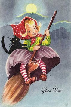 Swedish Easter Witches - Holiday Postcards Discussions on PostcardCollector.org - The Vintage Postcard Forum