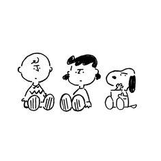 Charlie Brown Lucy van Pelt & Snoopy. #charliebrown #lucyvanpelt #snoopy #yunagaba #kaerusensei #art #長場雄 by kaerusensei