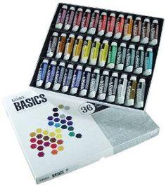 Amazon.com: Liquitex BASICS Acrylic Paint Tube 36-Piece Set: Arts, Crafts & Sewing