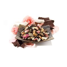 Teavana Chocolate Decadence Loose-Leaf Oolong Tea, 16oz (1lb) Drawing inspiration from a decadent warm Hawaiian chocolate cake, this oolong blend is a luxurious mix of creamy toasted coconut, and chocolate flavors. Pink rose petals add romantic icing to this guilt-free treat.A tea feast like never before.