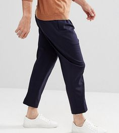 Noak Wide Leg Jersey PANTS - Navy