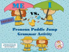 "Twin Sisters Speech & Language Therapy LLC: Freebie! ""Me"" vs. ""I' Pronoun Puddle Jump Activity."
