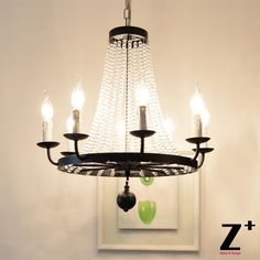 339.99$  Watch now - http://ali54y.worldwells.pw/go.php?t=32440462498 - American Country Style Vintage K9 Crystal Bead Chandelier lights wrought rion free shipping 339.99$