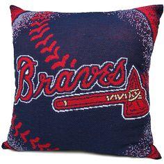 "Atlanta Braves 20""x20"" Woven Pillow - MLB.com Shop"