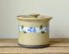 Vintage Pottery Kitchen Canister  Beech Mountain Pottery