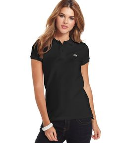 Lacoste Short-Sleeve Two-Button Logo Polo Shirt