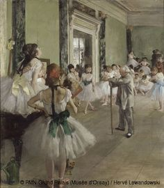 Edgar Degas - The Ballet Class (La classe de danse)