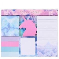 Bring a magical, regal touch to your desk with this pad of pastel coloured unicorn sticky notes. This set includes five sizes of sticky notes from list pads to index tabs so you can keep on top everything. If you can't get a real unicorn, we think this Real Unicorn, Unicorn Gifts, Unicorn Stationary, Unicorn Island, Note Memo, Desk Supplies, Desk Pad, Paperchase, Desk Accessories