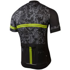 """""""The Black Botanical"""" Cycling Jersey by Gregory Klein Men's"""