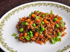 A fibre and vitamin packed chewy rice dish with great taste.