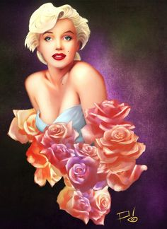Marilyn Monroe 2012 by MrTuRn on deviantART -digital painting   | This image first pinned to Marilyn Monroe Art board, here: http://pinterest.com/fairbanksgrafix/marilyn-monroe-art/ || #Art #MarilynMonroe