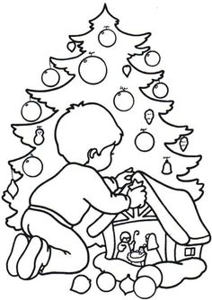 christmas coloring pages for kids   Printable Christmas Coloring Pages   Coloring Lab