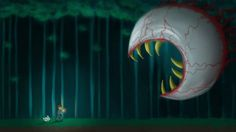 THIS is what it's like to wander at night in terraria with that terrifying thing hunting you down.