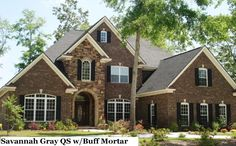 house exterior brick and stone - Yahoo Search Results- just wish the stone was a little lighter