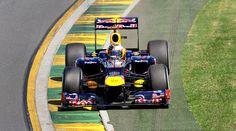 GP d'Australie 2012, Qualifications: Sebastian Vettel un peu large dans le virage 1