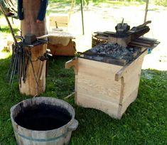 Viking forge Home Forge, Diy Forge, Forging Knives, Blacksmithing Knives, Vikings, Sword Craft, Larp Armor, Blacksmith Forge, Viking Life