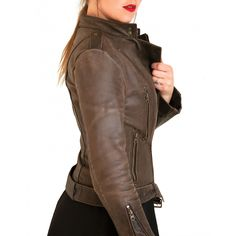 Moss leather jacket, buffalo, fashion, vintage, genuine leather, style, outerwear, jackets