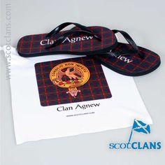 Agnew Tartan Flip Flops Free Worldwide Shipping Available