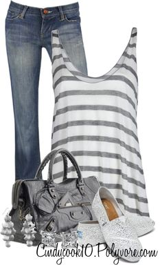 """""""Striped Tank Contest"""" by cindycook10 on Polyvore"""