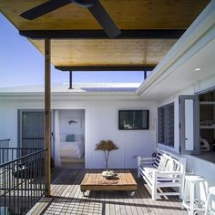 PEREGIAN RENO  This deck gets great views of the hinterland. #DLC #design #construct #architecture #building #renovation #build #archdaily #queenslandarchitecture #home #house #deck #sunshine #coastalliving