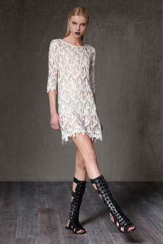 Soleil Sheer Lace Tunic by ALEXIS on @HauteLook
