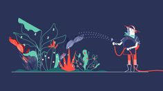 Motionographer shares inspiring work and important news for the motion design, animation and visual effects communities. Vector Animation, Animation Film, Floral Illustration, Graphic Design Illustration, Gif Animé, Animated Gif, Motion Design, Gifs, Animation Tutorial