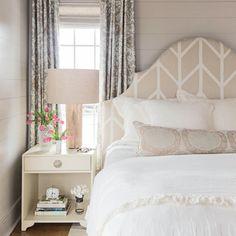 Neutral Master Bedroom - 15 Shiplap Wall Ideas for Beach House Rooms - Coastal Living