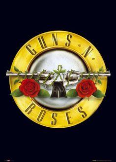 Guns n roses, #logos #musiclogos #bandlogos #gunsnroses http://www.pinterest.com/TheHitman14/music-logos-%2B/