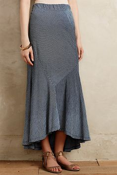 Pieced Stripe Maxi Skirt #anthropologie.  A big fan of the diagonal lines.