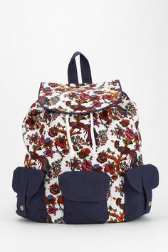 Ecote Triple-Pocket Canvas Backpack  #urbanoutfitters