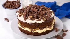 Smash-kake Norwegian Food, Norwegian Recipes, Pudding Desserts, Chocolate, Christmas And New Year, Tiramisu, Cake Recipes, Nom Nom, Deserts