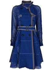 SACAI - Eyelet trench coat