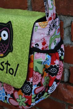 Personalized Owl Diaper Bag Messenger by SweetBrooklynDesigns, $65.00