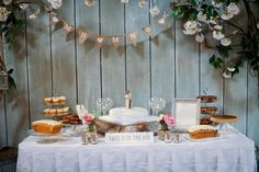 Indulge in today& romantic pastel real wedding at Ballymagarvey Village with pretty DIY décor and a drool-worthy dessert table. Photos by Michelle Prunty. Wedding Desserts, Wedding Decorations, Table Decorations, Wedding Cake Toppers, Wedding Cakes, Wedding Mint Green, Cake Accessories, Pastel Flowers, Dessert Table