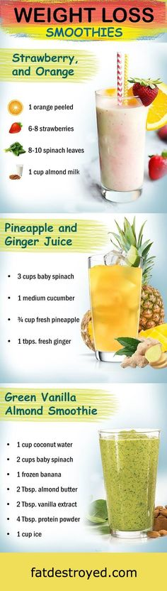 Healthy smoothie recipes for weight loss. Drink to lose weight. Fat burning smoothies for fast weight loss. Check out 15 effective weight loss Drinks/Detox/Juice/Smoothies that works fast. Healthy smoothie recipes for Weight Loss Smoothie Recipes, Weight Loss Meals, Weight Loss Drinks, Fast Weight Loss, How To Lose Weight Fast, Fat Fast, Losing Weight, Loose Weight, Lose Fat