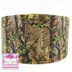 Camouflage 3 Inch Cheer Softball Grosgrain Ribbon - 5 YARDS by LivinTheBowLife…