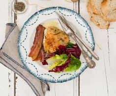 Maggie Beer's Chicken pieces with preserved lemon, pancetta and rosemary