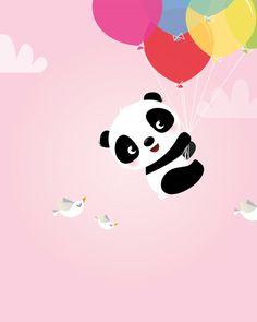 Baby kids room etsy ideas for 2019 Cute Panda Wallpaper, Wallpaper Iphone Cute, Panda Wallpapers, Cute Cartoon Wallpapers, Nursery Prints, Nursery Wall Art, Decoration Creche, Panda Bebe, Panda Nursery