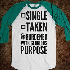 Loki Burdened with Glorious Purpose T-Shirt $24.99