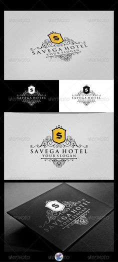 """Savega Hotel Logo Template  #GraphicRiver         Savega Hotel Logo Template   Overview:  Editable & Re-sizable file in these file formats [EPS, AI, CDR]  Easily customizable colors  Letter """"S"""" is fully editable   Font Used:  Trajan Pro [  ."""