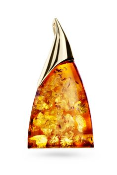 House of Amber - 14 carat gold pendant with cognac amber.