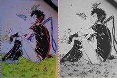 Manga color/white&black