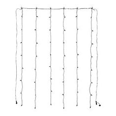 IKEA - SKRUV, LED light curtain with 48 lights, , You can personalize the light chain to match the season or your style. Just add the decorations of your choice and