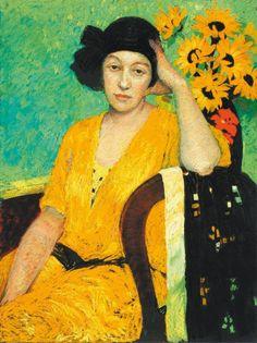 女性と花、ジュディ・ドリュー