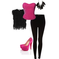 Pink and feathers!!<3