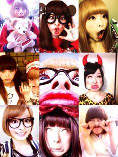 きゃりぱみゅぱみゅ変顔 silly faces hengao kyary pamyu pamyu