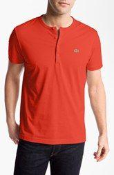 Lacoste Short Sleeve Henley T-Shirt